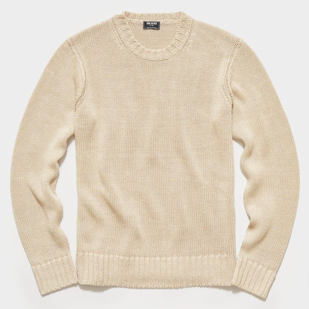 Todd Snyder Italian Linen Crewneck Sweater