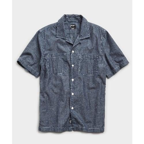 Todd Snyder Japanese Chambray Short Sleeve Shirt
