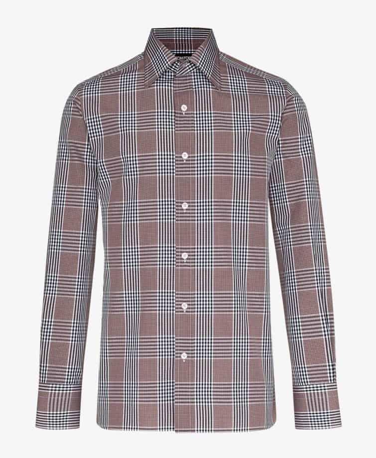 Tom Ford Check Print Cotton Shirt