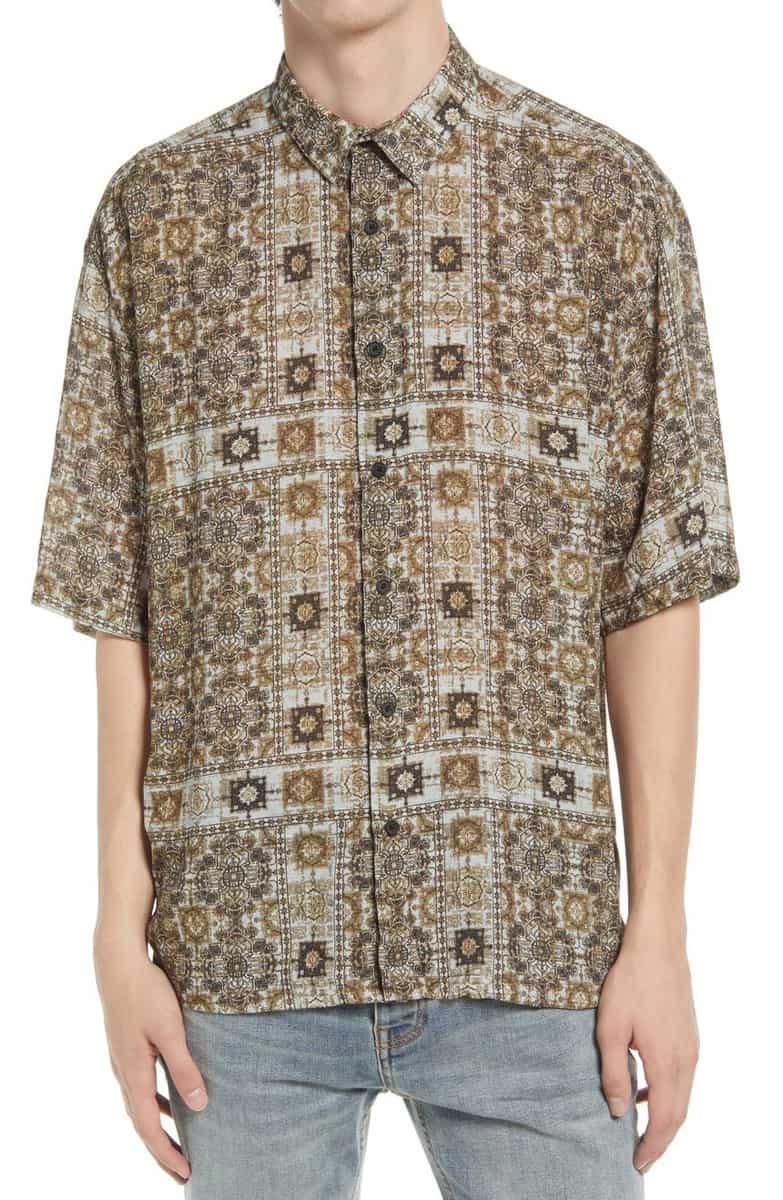 Topman Bandana Print Shirt