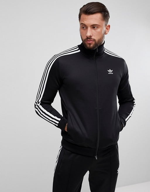 adidas Originals adicolor beckenbauer track jacket in black
