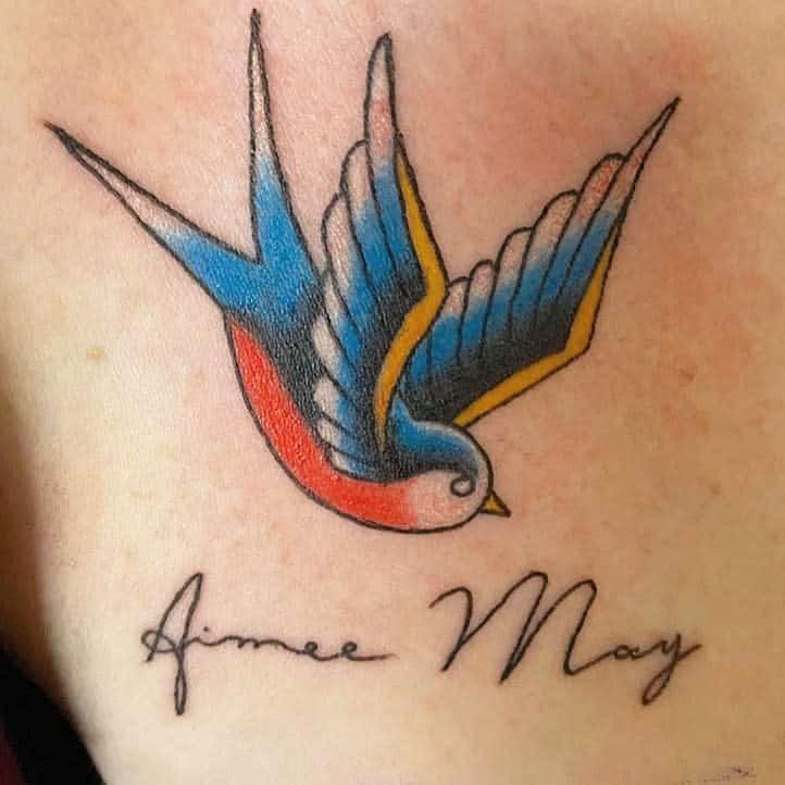 Traditional Bluebird Tattoo mark_rubio.ink_