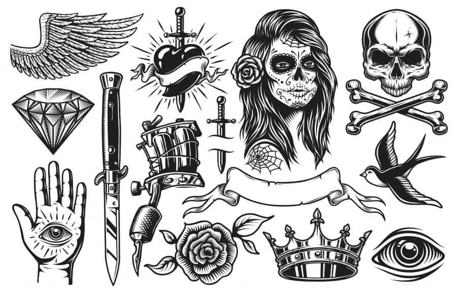 Traditional Bold Black Ink Flash Designs