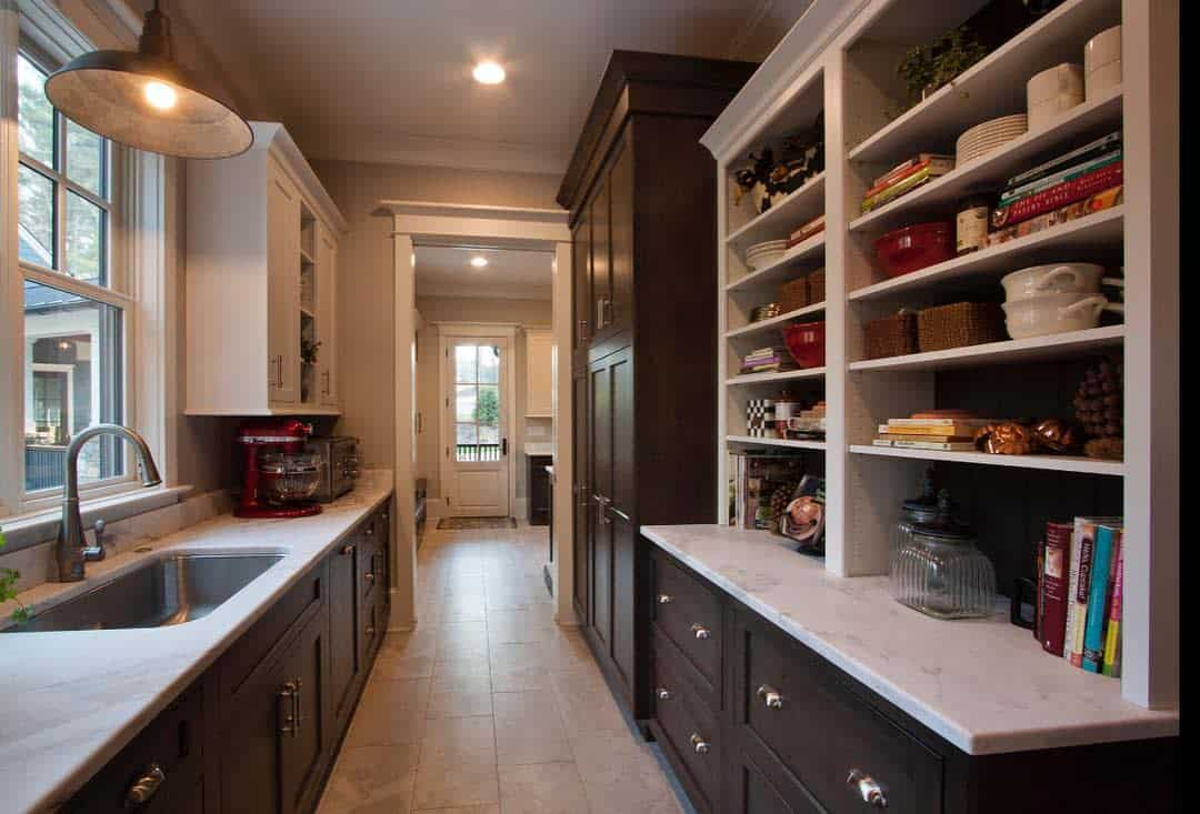 Traditional Butler Pantry Ideas -pebbledash_builders