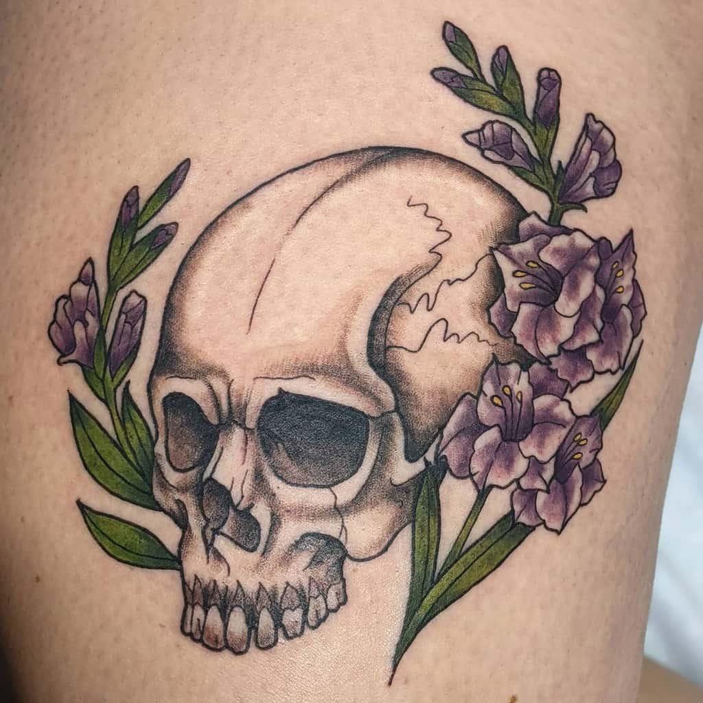 Traditional Gladiolus Flower Tattoo catherine_alice_