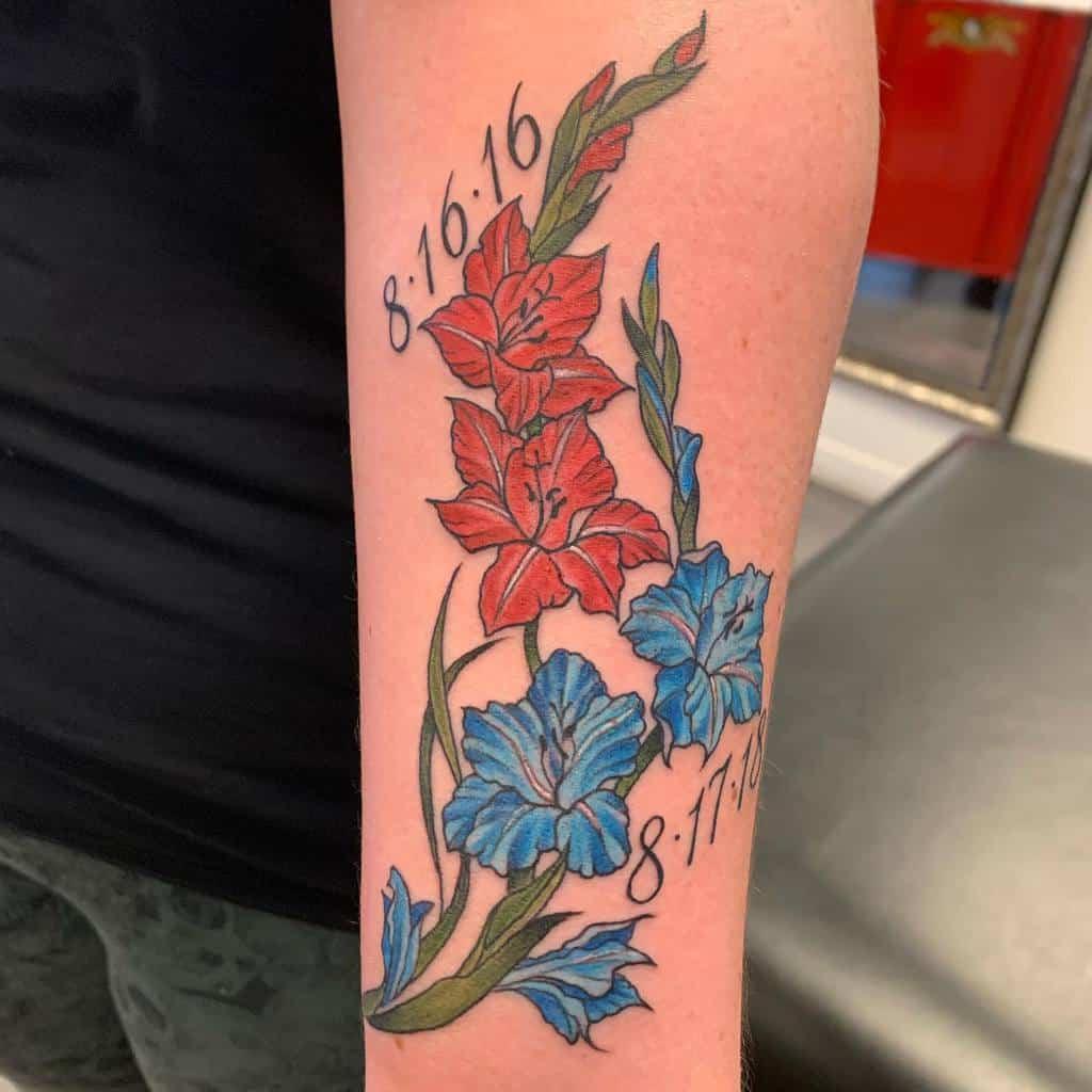 Traditional Gladiolus Flower Tattoo curt_christensen_tattooguy