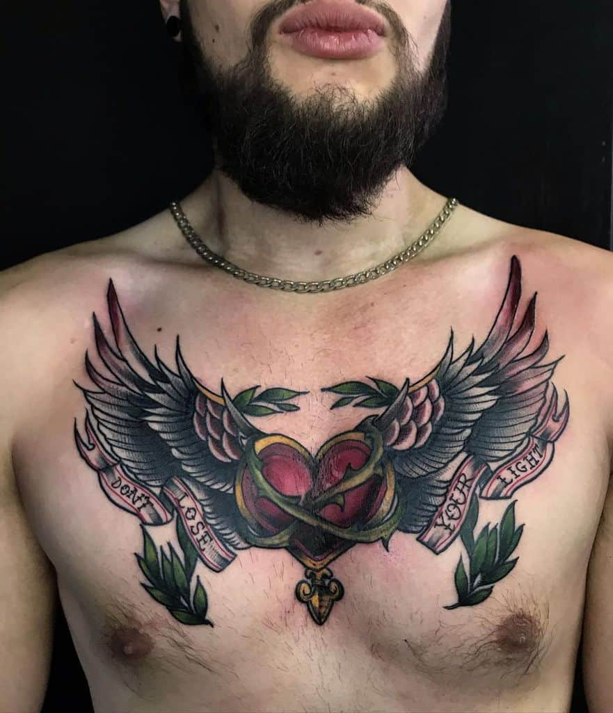 Traditional Heart With Wings Tattoo _plesstrange_
