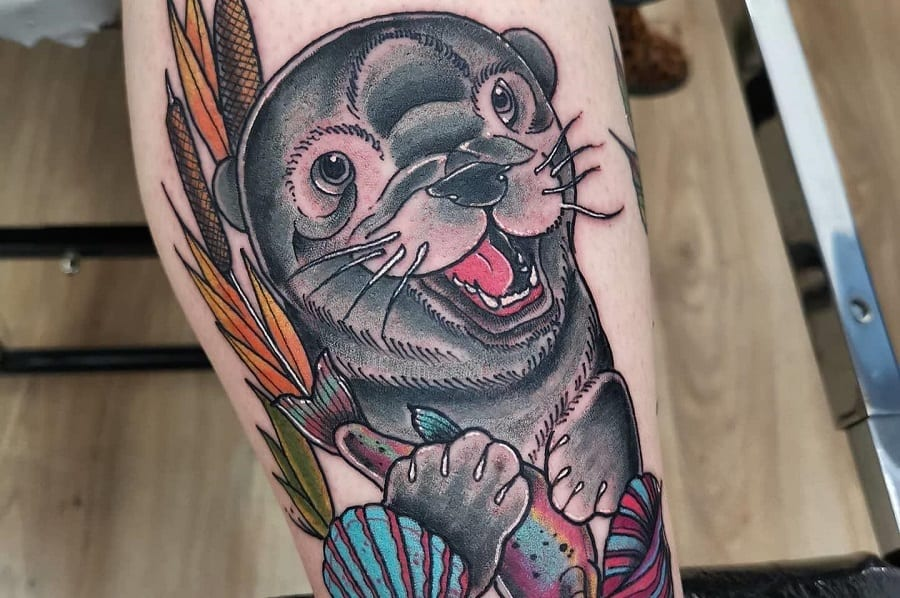 Top 71 Best Otter Tattoo Ideas – [2020 Inspiration Guide]