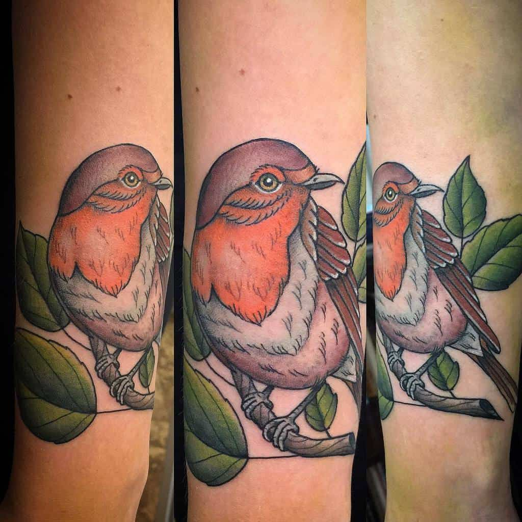 Traditional Neo Traditional Robin Tattoo Lars Greiwe