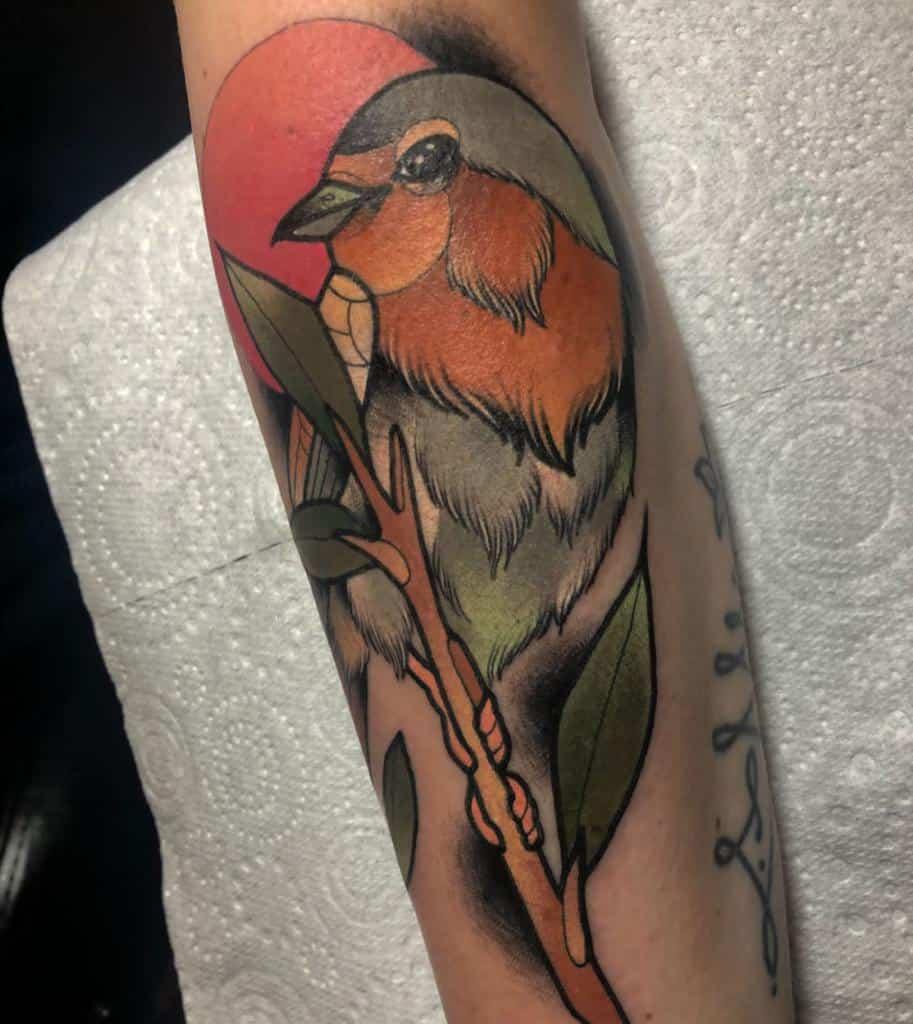 Traditional Neo Traditional Robin Tattoo Pau1terry