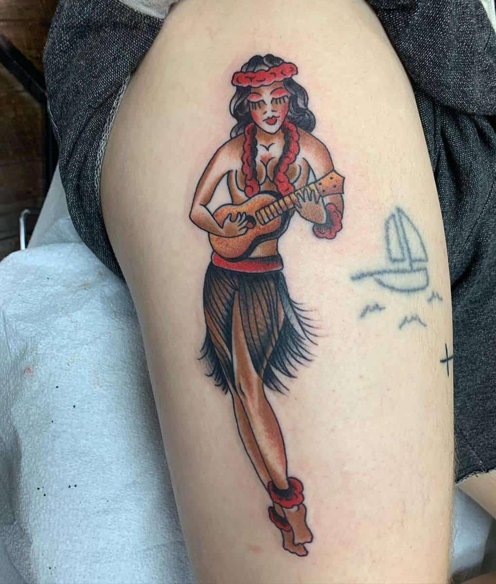 Traditional Pin Up Girl Tattoo -tejashua