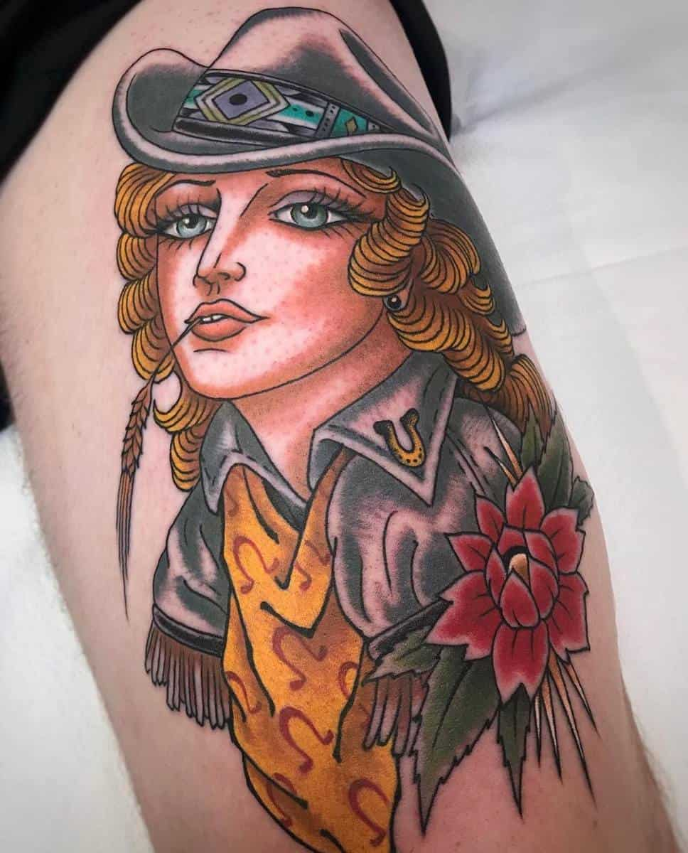 Traditional Pin Up Girl Tattoo -the.blankenship