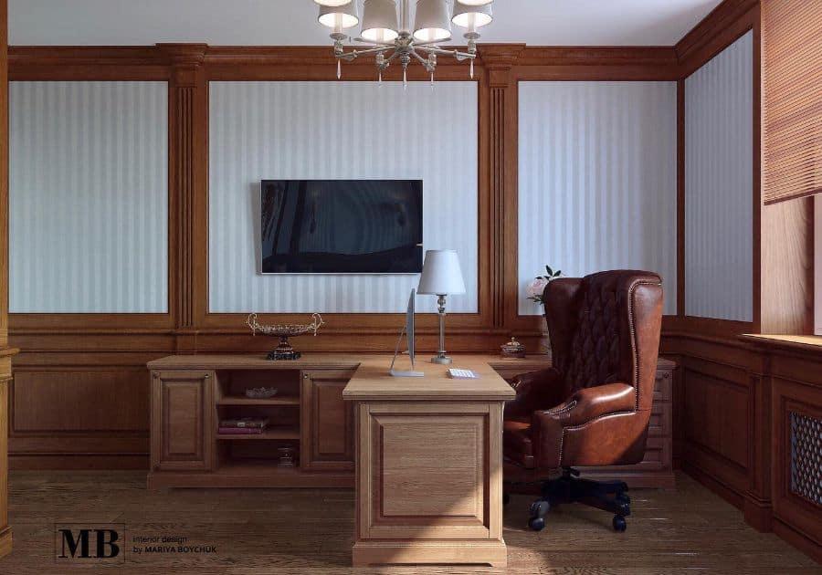 Traditional Study Room Ideas mb_interior.design