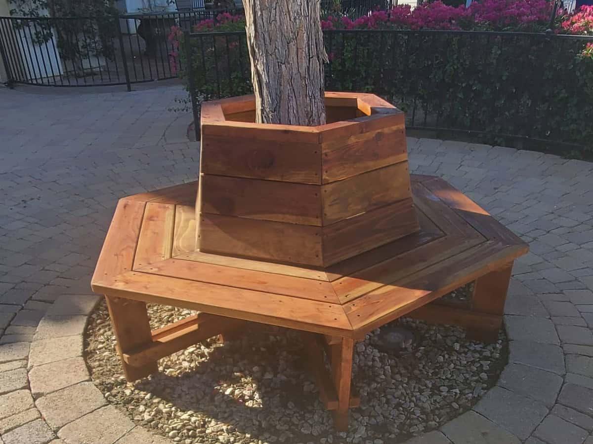 Tree Bench Garden Bench Ideas -bmcustomwoodworks
