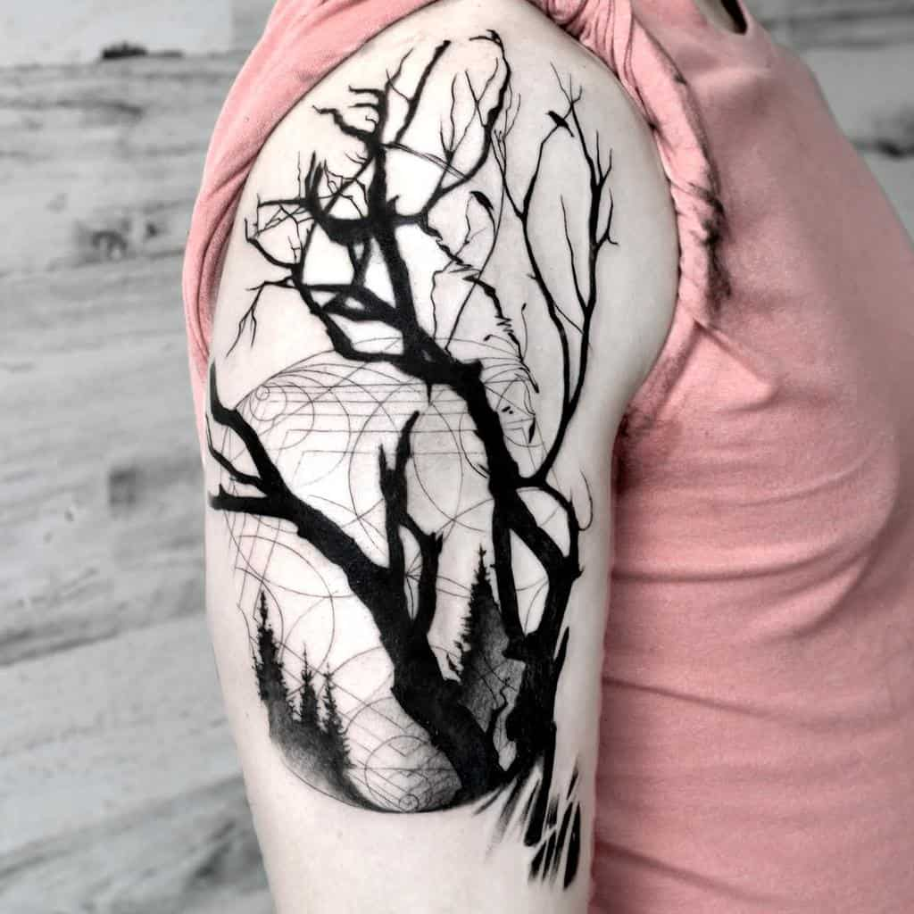 Tree Branch Shoulder Tattoo paintedsoularts