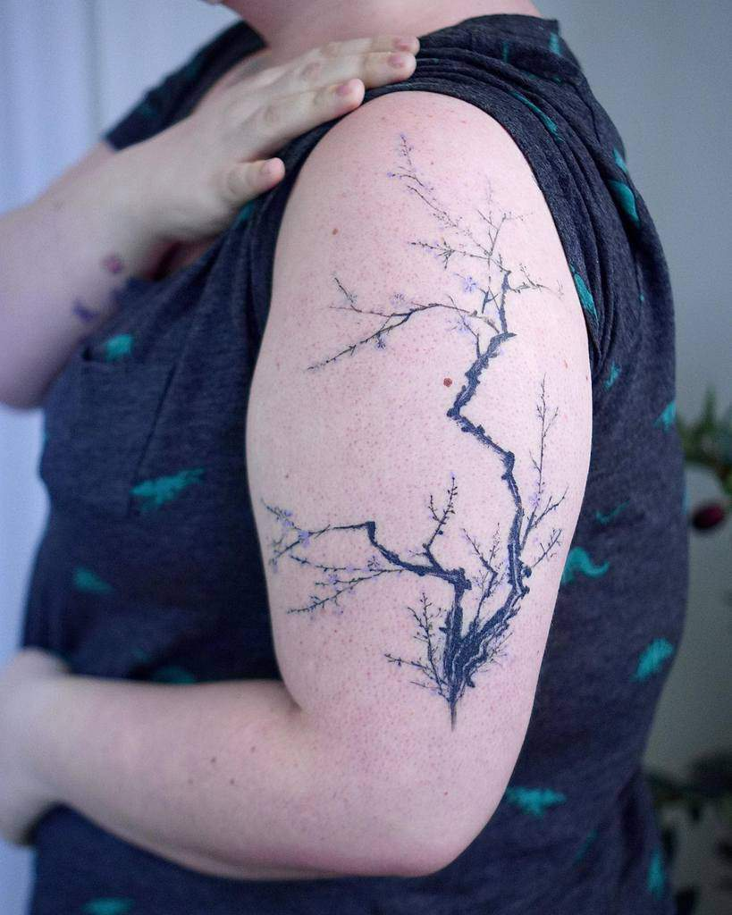 Tree Branch Silhouette Tattoo 0one_tattoo
