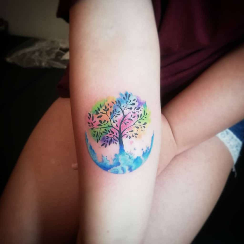 Tree of Life Arm Tattoo cosmonautattoo