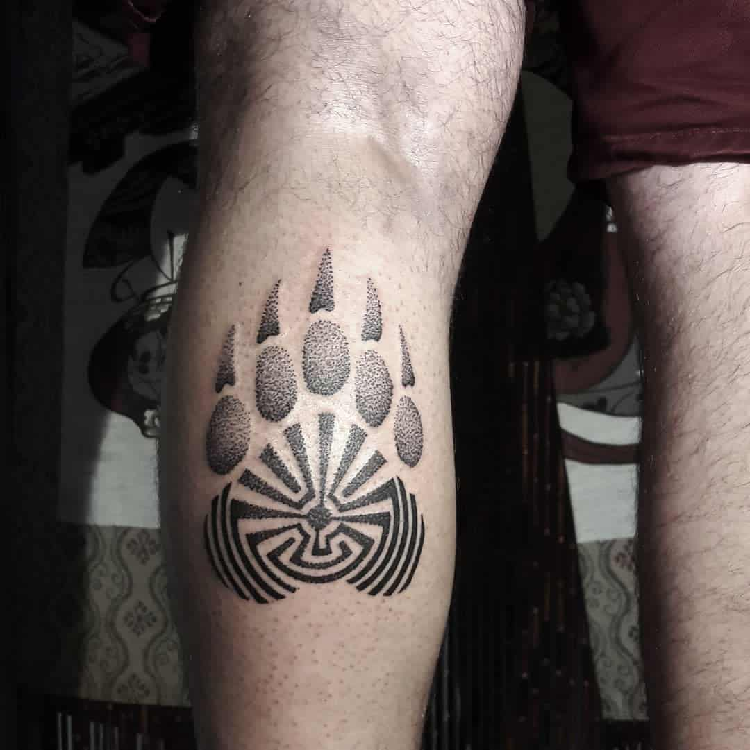 Tribal Bear Paw Tattoo baroque.rococo