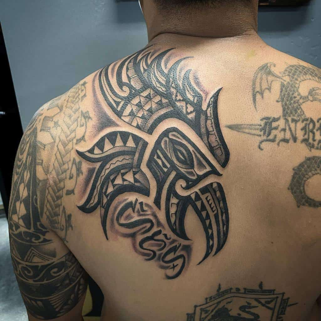 Tribal Eagle Head Tattoo tribalrootstattoo