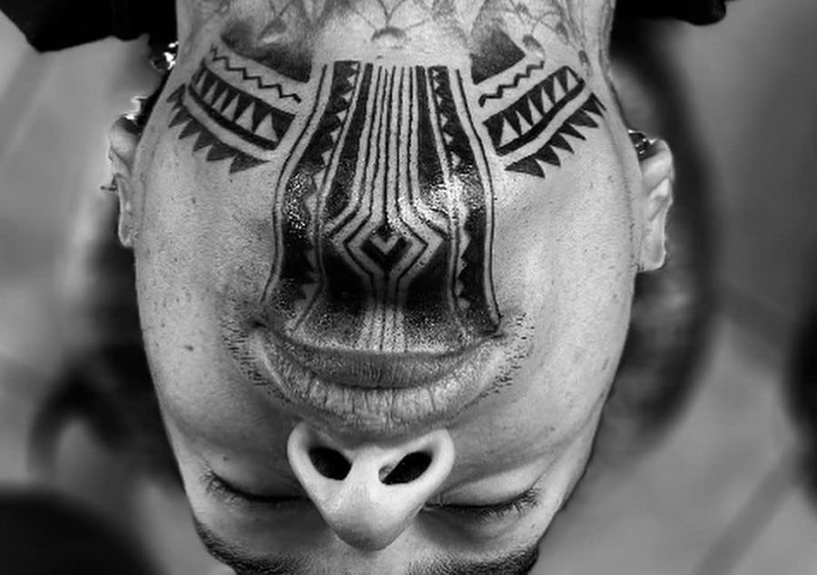 Top 73 Best Tribal Face Tattoo Ideas – [2020 Inspiration Guide]