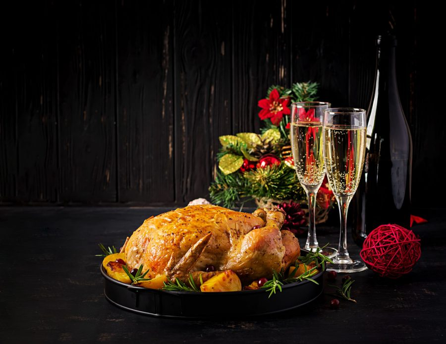 Turkey and Sparkling Wine