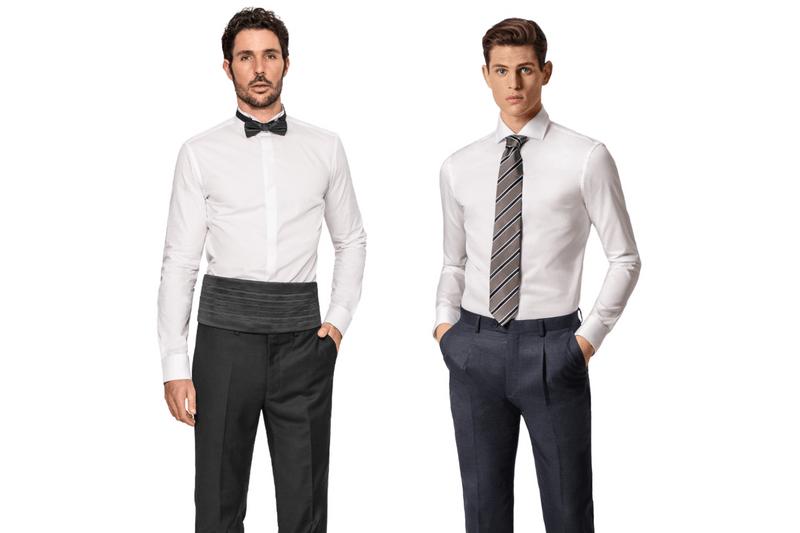 Tuxedo shirt vs. dress shirt fabrics