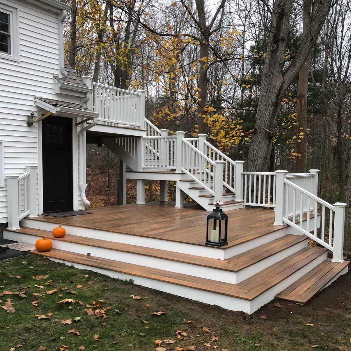 Two Tone Deck Color Ideas -burkeandburkebuilders