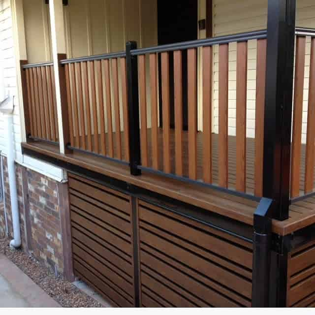 Two Tone Deck Color Ideas -excellrailingbcknotwood