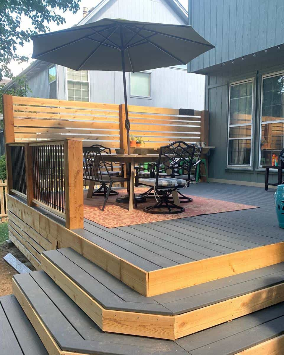 Two Tone Deck Color Ideas -greatgatzby_life