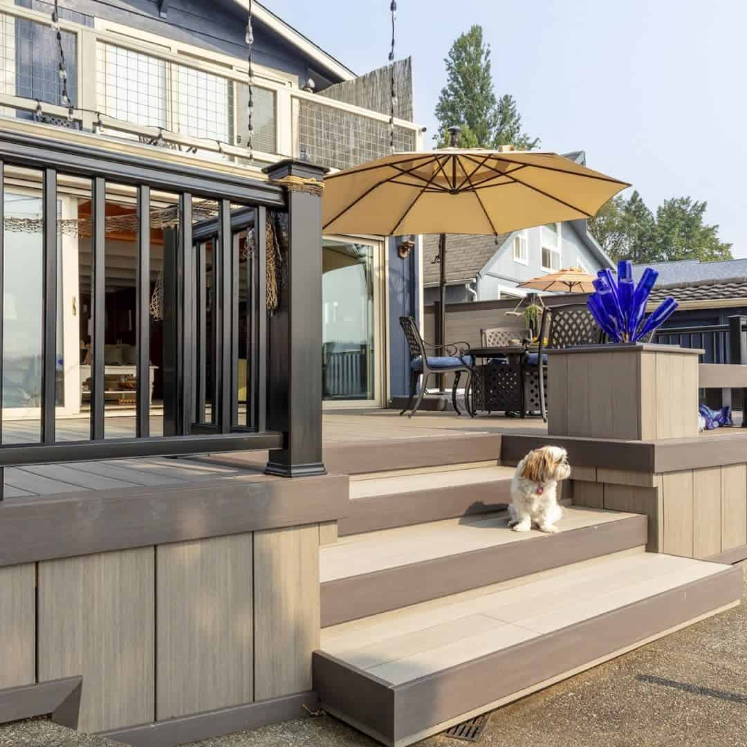 Two Tone Deck Color Ideas -timbertech