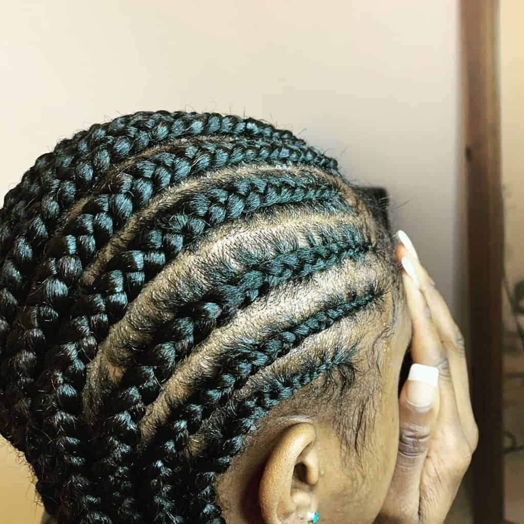 Tyga Cornrows Hairstyle Featuring Long And Thick Cornrows