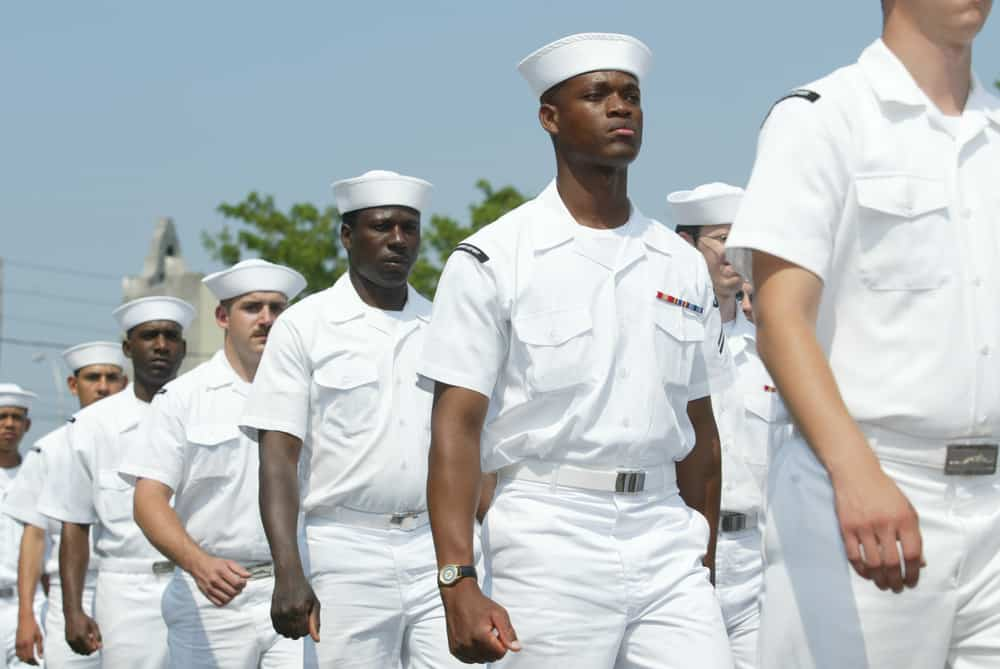 U.S. sailors march in the Little Neck/Douglaston Memorial Day Parade May 29, 2006 in Queens, NY