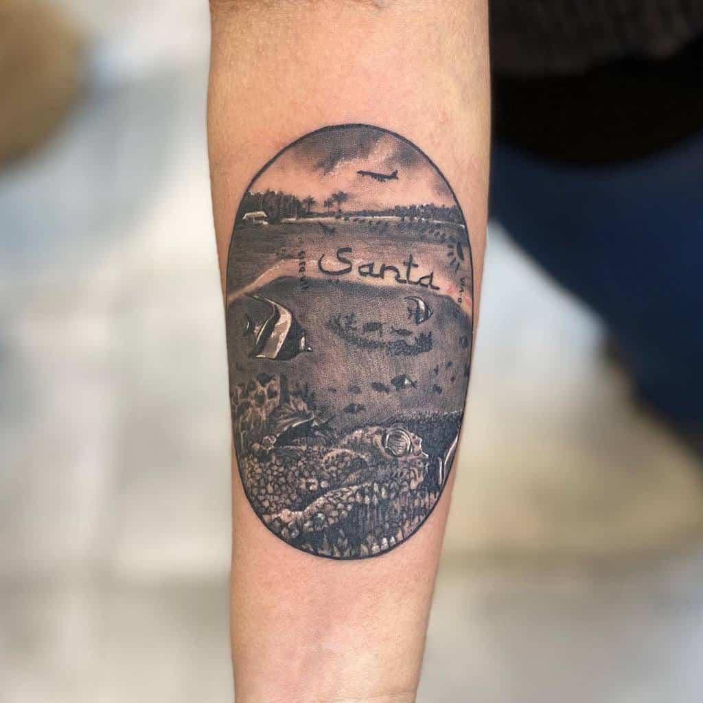 under-the-sea-fish-arm-black-gray-ocean-tattoo-tattoosbykliena