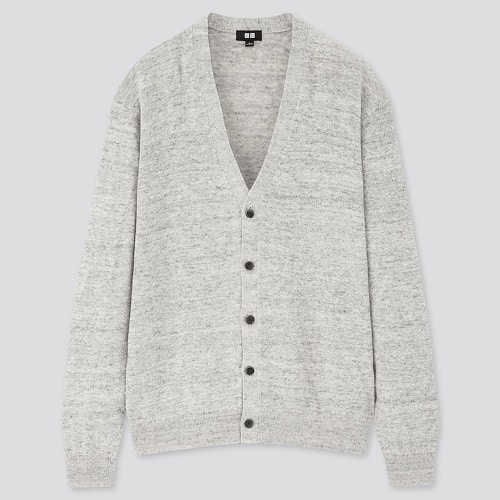 UNIQLO-Linen-Blended-V-Neck-Long-Sleeve-Cardigan