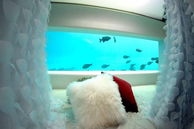 Underwater Hotel Huvafen Fushi in the Maldives