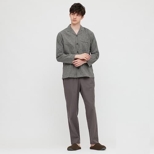 Uniqlo-Flannel-Long-sleeve-Pajamas