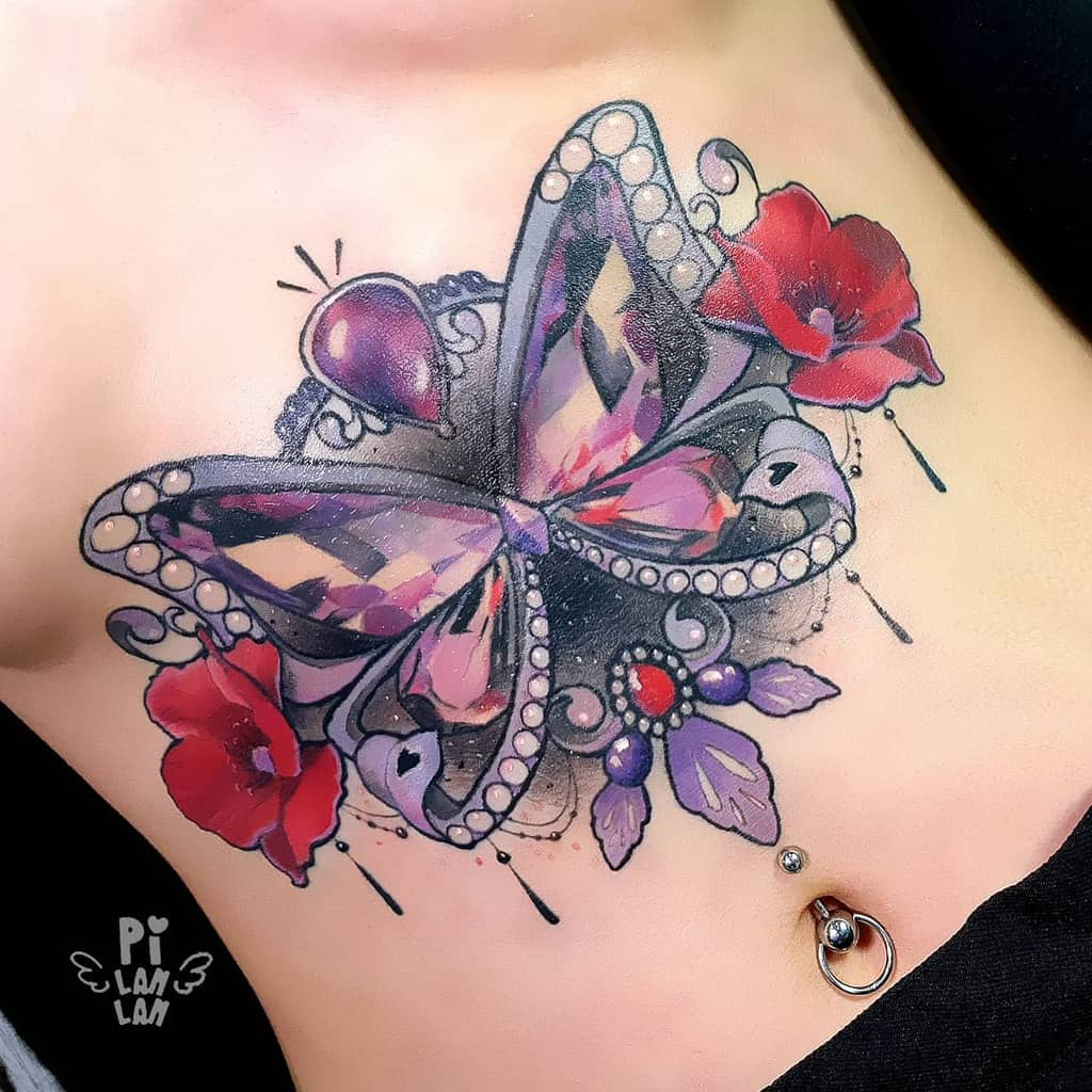 Unique Butterfly Tattoo Meaning pi_lanlan