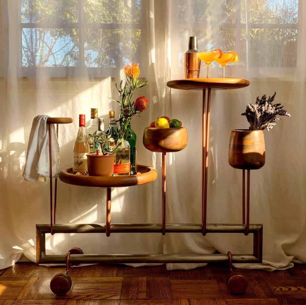 Unique Design Bar Cart Ideas -princeandfoxstudio