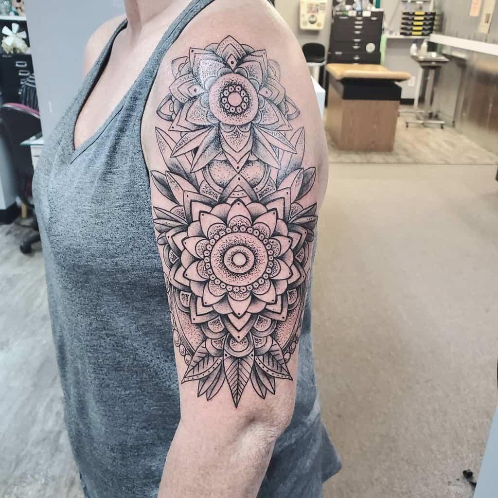 Upper Arm Tattoos for Women extinction.ink
