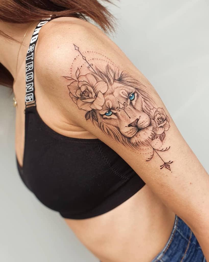 Upper Arm Tattoos for Women regnum_draconis_tattoo