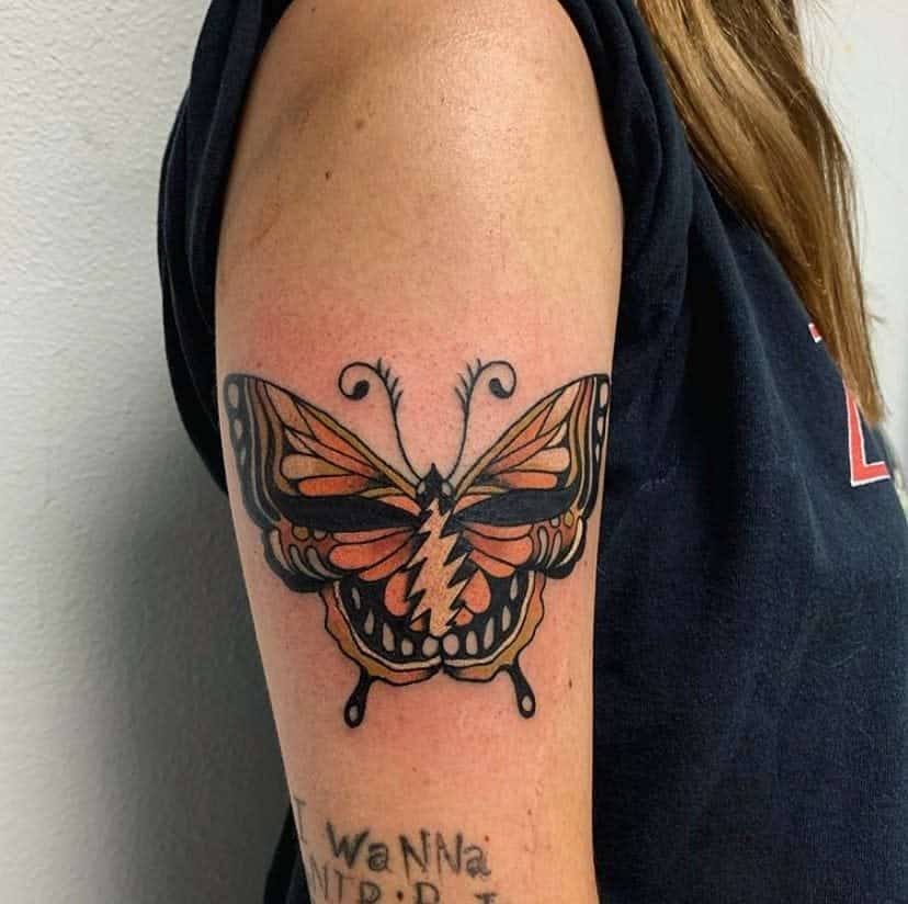 Upperarm Butterfly Tattoo Meaning blackkatink
