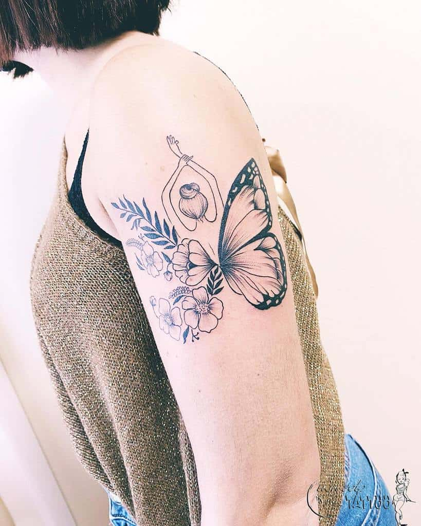 Upperarm Butterfly Tattoo Meaning nonsolotattooav