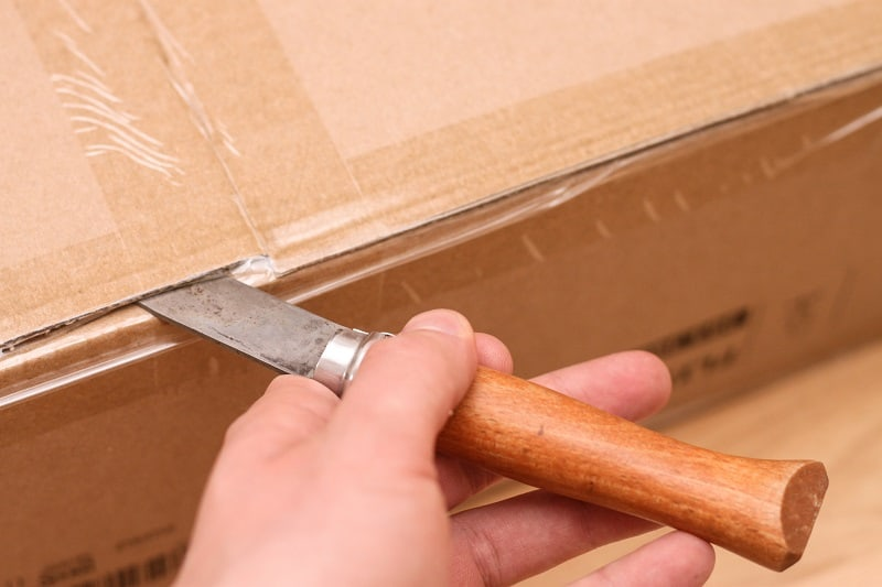 Use-a-Pocket-Knife-to-Open-a-Package