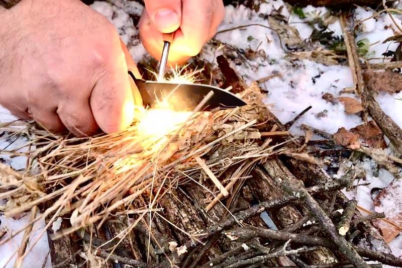 Use a Pocket Knife to Start a Fire