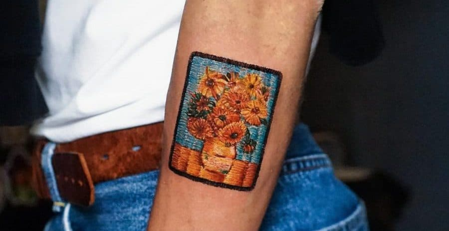 Top 65 Best Embroidery Tattoo Ideas – [2020 Inspiration Guide]