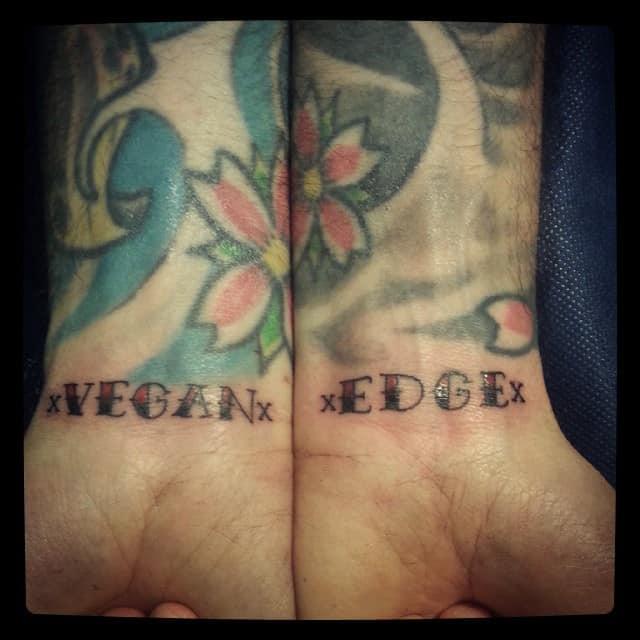 Vegan Straight Edge Tattoo Xmartinotattoox