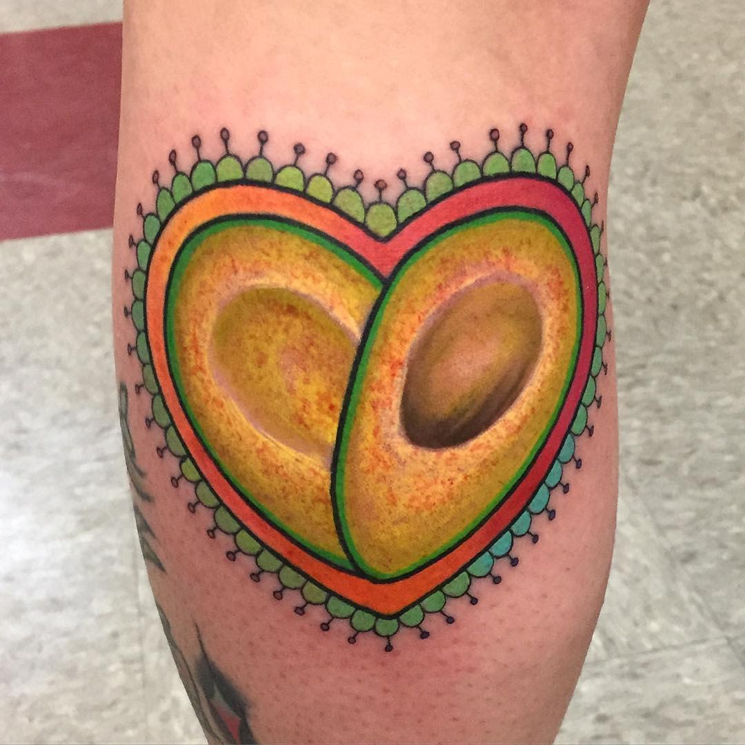 Avocado Vegan Tattoo -chrisgallegostattoodemon