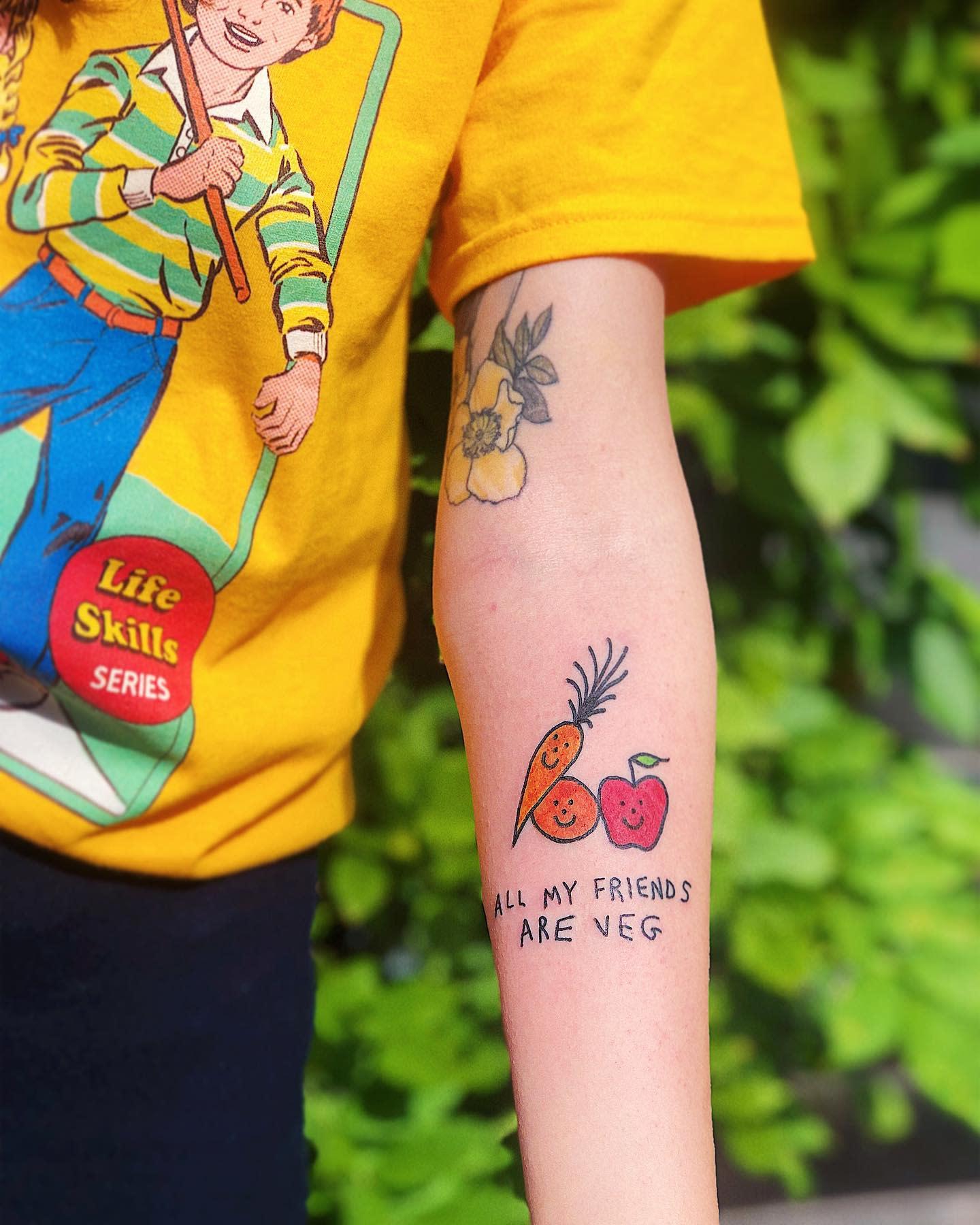 Süßes veganes Tattoo -_harrymckenzie