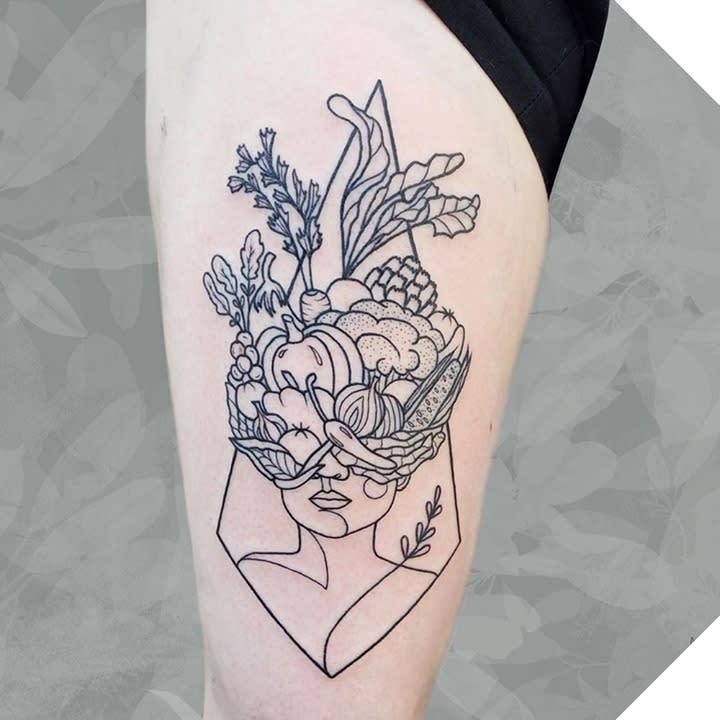 Einfaches veganes Tattoo -the.studio.tattoo