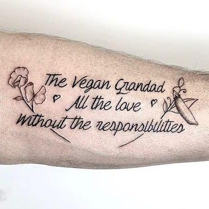 Wort Vegan Tattoo -Stephengeary